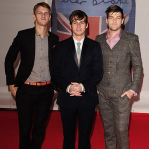 Foster the People arrive at the BRIT Awards 2012