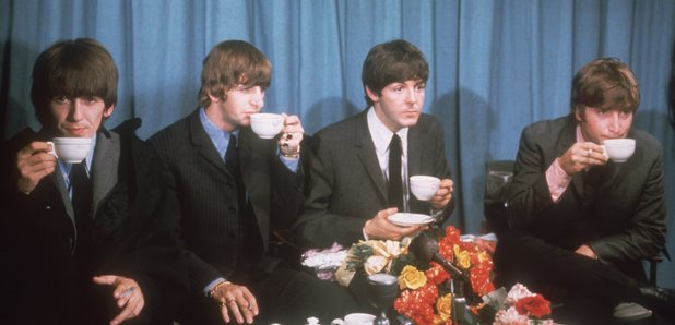 The Beatles drinking tea 1964
