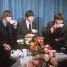 The Beatles drinking tea 1964