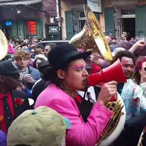 Arcade Fire New Orleans Bowie Parade