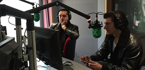 The Last Shadow Puppets in Radio X studio