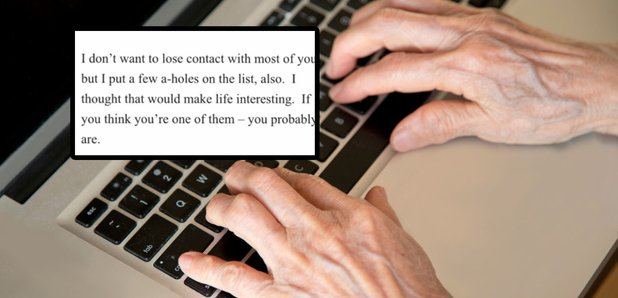 Man's retirement email and stock typing image