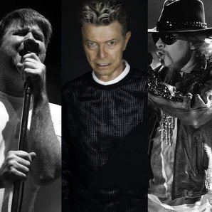 James Murphy David Bowie and Axl Rose splitscreen