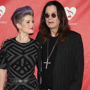 Kelly Osbourne with dad father Ozzy Osbourne