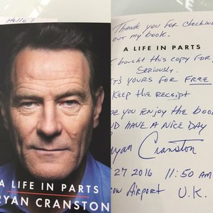 Bryan Cranston and note to fan