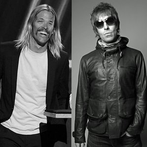 Taylor Hawkins Liam Gallagher split image