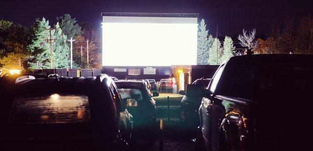 Drive-in cinema stock image