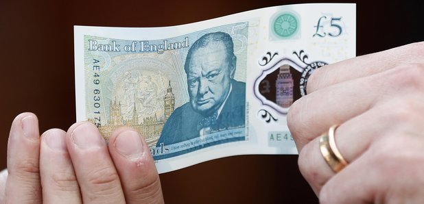 Polymer Five Pound Note £5