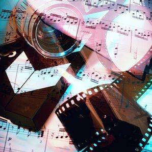 Film score music stock image