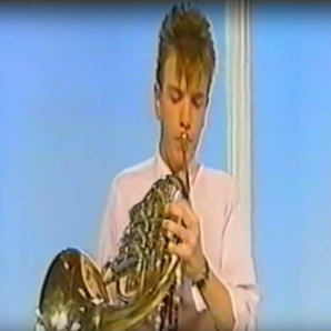 16-year-old Ewan McGregor playing the French Horn