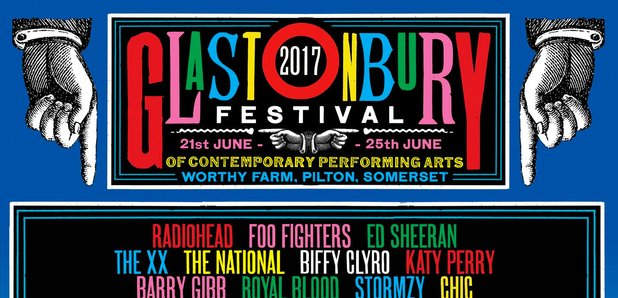 Glastonbury Line-Up poster 2017