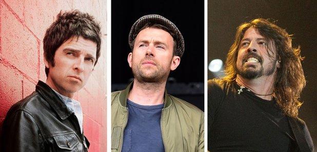Noel Gallagher Damon Albarn Dave Grohl