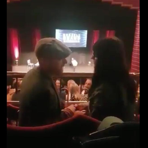 Man proposes to girlfriend at Russell Brand Re:Bir