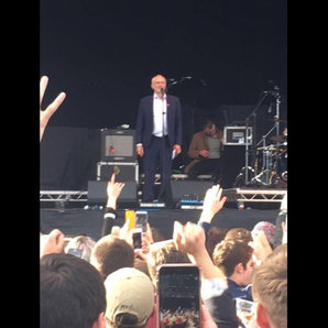 Jeremy Corbyn at The Libertines Wirral Live gig