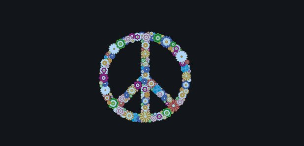 Floral peace sign stock image