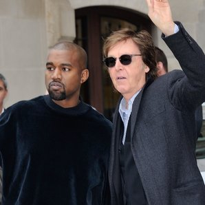 Paul McCartney and Kanye West 2015