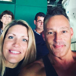 Pippa and Toby Anstis at Wimbledon
