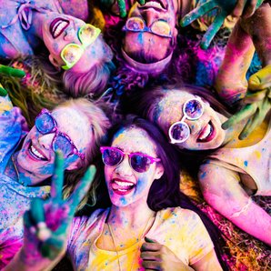 stock image women at festival