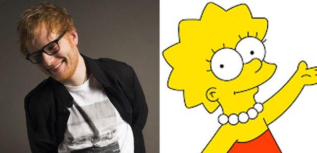 Ed Sheeran and Lisa Simpson image