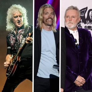 Brian May, Taylor Hawkins and Roger Taylor