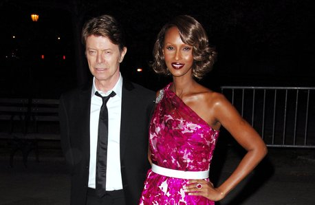 David Bowie and Iman in 2016