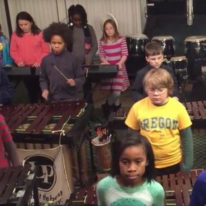 Kids percussionists perform Led Zep's Kashmir